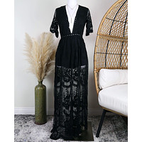 Honey Punch - As You Wish Womens Embroidered Lace Maxi Dress in More Colors