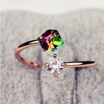 Gift Jewelry New Arrival Shiny Stylish Korean Rhinestone Vintage Ring(With Thanksgiving&Christmas Gift Box) [6586216647]