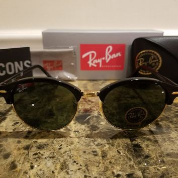 Ray-Ban RB4246 901/19 51MM CLUBROUND Black Frame