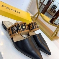 DCCK FENDI Women Casual Shoes Boots fashionable casual leather Women Heels Sandal Shoes