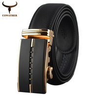 Cinto Masculino New Brand Cowather Designer Male Strap Jeans Belt Tercel Eagle Automatic Buckle Genuine Leather Belts for Men