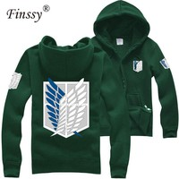 Cool Attack on Titan Japan no  Cosplay Costume  hoodies for Men Women Coat Couple Cotton AT_90_11
