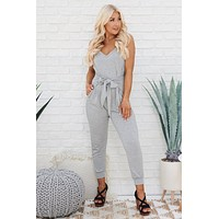 Even Better Than Your Birthday Jumpsuit (Heather Grey)