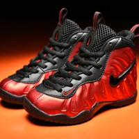 Nike Air Foamposite Pro Black Red Child Shoes Toddler Kid Sneaker - Best Deal Online