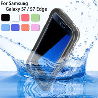 S7/ S7 Edge Waterproof Swim Diving Case For Samsung Galaxy S7/ S7 Edge Clear Protective Front & Back PC+ TPU Cover Accessories