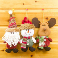 2017 Merry Christmas Santa Doll Pendants Christmas Tree Decoration Hanging Ornaments Crafts for Home Decor Supplies SD61