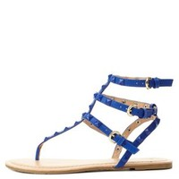 Studded T-Strap Thong Sandals by Charlotte Russe