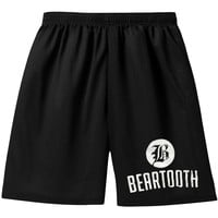 Beartooth Men's  Logo Gym Shorts Black Rockabilia