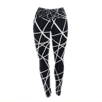 "Trebam ""Paucina"" Crazy Lines Yoga Leggings"