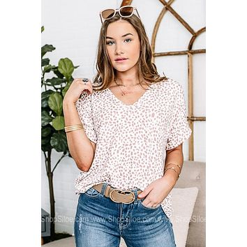 Live The Good Life Neutral Spotted Top