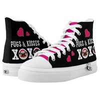 Pugs and Kisses XOXO Pugs and Hearts Printed Shoes