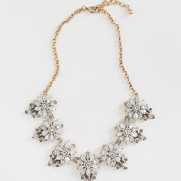 Carol Grey Crystal Flower Statement Necklace
