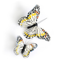 Crown and Glory Hair Accessories — Monarch Butterfly Clips - Ivory