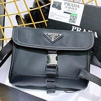 Hipgirls Prada New fashion shoulder bag crossbody bag women Black