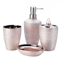 ROSE GOLDEN SHIMMER BATH ACCESSORIES
