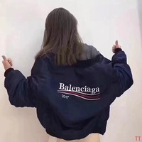 Balenciaga Women Fashion Cardigan Jacket Coat