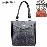 Montana West TR26G-L8561 Trinity Ranch Tooled Concealed Carry Handbag