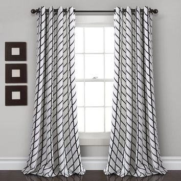 Fall In Line Room Darkening Window Curtains