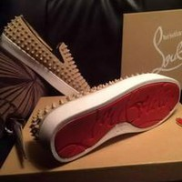 hcxx Christian Louboutin All Brown suede skin with studs