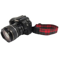 CAST03 1.5In Red and Green Plaid Camera Strap Photographers Gift