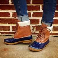 Jango Duck Boot Navy/Cream