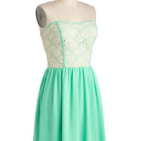Glowing Places Dress in Mint | Mod Retro Vintage Dresses | ModCloth.com