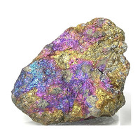 Peacock Ore Nugget Chalcopyrite Ray Mine Natural Patina Blue Purple Gold Wonder Stone