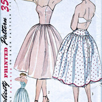 1950's Petticoat and Slip - Vintage Sewing Pattern - Simplicity 3739 - Bust 32""