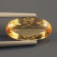 Precious Topaz: 5.25ct Peach Oval Shape Gemstone AAA Faceted Mineral Creative Designers Color Romance Cocktail Ring 14k 18k 22k 942 20236