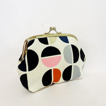 Metal Frame Pouch Coin Purse Small Pouch Split Circles