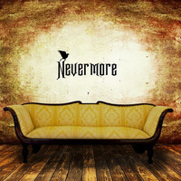 Halloween Removable Vinyl Wall Decal Nevermore with Raven 22468