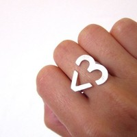 Open Heart Ring Gold from P.S. I Love You More Boutique