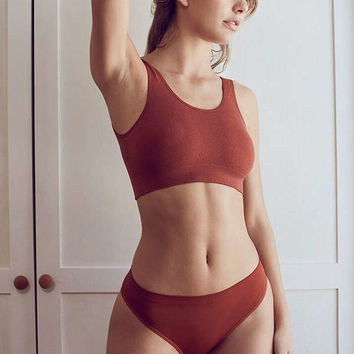 Out From Under Markie Seamless Ribbed Bra | Urban Outfitters
