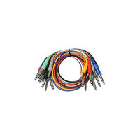 "Hosa: 8 Piece Patch Bay MONO Cables 1/4"" (Male to Male), 3ft (CPP-890)"
