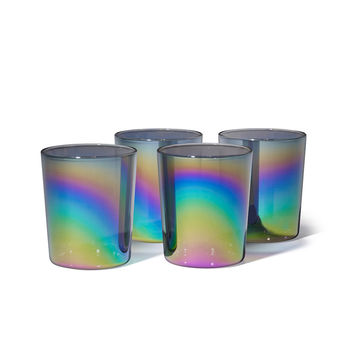 Shimmerware Low Glass Tumblers (Set of 4)