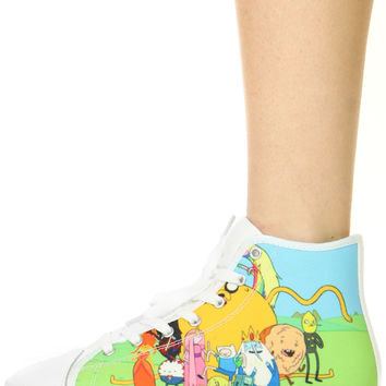 ADVENTURE TIME HIGH TOP SNEAKERS
