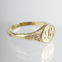 Catbird :: shop by category :: JEWELRY :: Rings :: Viola's Treasure Signet Ring