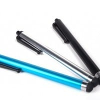 LifeForm Capacitive Stylus for Kindle Fire, Kindle Paperwhite and other Touchscreen Devices, 3-pack (Black, Chrome, Ocean Blue)
