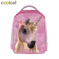 Boys Backpack Bag Unicorn  for Girls Animal Bag cartable enfant Children School Bags Kawaii mochila Toddlers Cartoon Kindergarten Bag AT_61_4