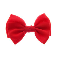 Large Red Bow Hair Clip