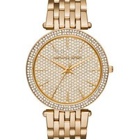 Michael Kors Darci Gold-Tone Stainless Steel Ladies Pave Crystal Dial Watch
