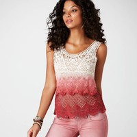 AE Dip-Dyed Crochet Tank   American Eagle Outfitters