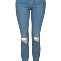 MOTO Authentic Rip Jamie Jeans - Topshop
