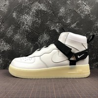 Nike Air Force 1 Utility Mid Strap White AF1 Fashion Shoes - Best Online Sale