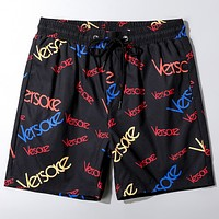 Versace 2020 Early Spring New Printed Lettering Beach Shorts