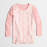 Factory embroidered-front top : long sleeve | J.Crew Factory