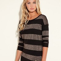 Lexi Long-Sleeve Striped Sweater at GUESS