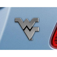 West Virginia Mountaineers NCAA Chrome Car Emblem (2.3in x 3.7in)