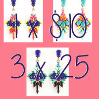 New Chandelier Earrings , Fashion , Trend Earring , Multicolor Earring, Statement,  Summer Earrings