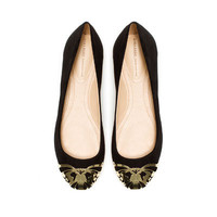 BALLERINA WITH METAL TOE CAP - Shoes - Woman - ZARA United States